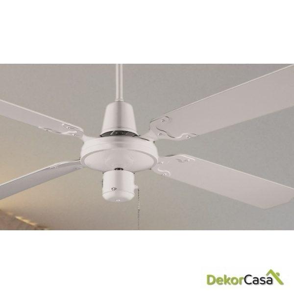 full 50439 bl ventilador de techo sin luz blanco detalle