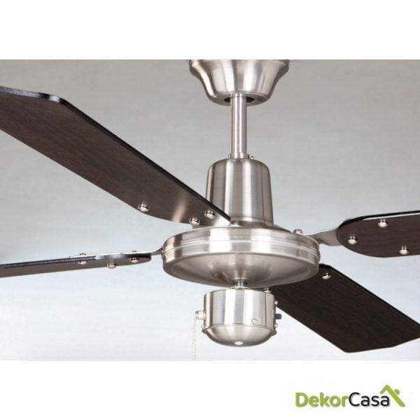 full 50439 we ventilador de techo sin luz cromo satinado detalle