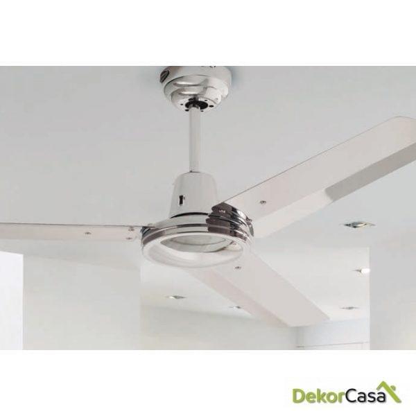 full 50951 bl ventilador de techo industrial acero cromado detalle