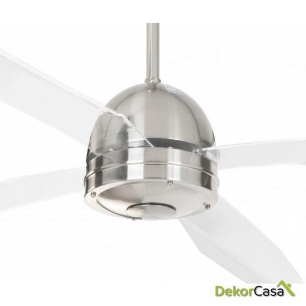full 50992cr ventilador techo cromado transparente detalle