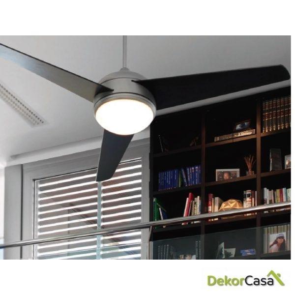full 50999 ventilador de techo con luz niquel mate