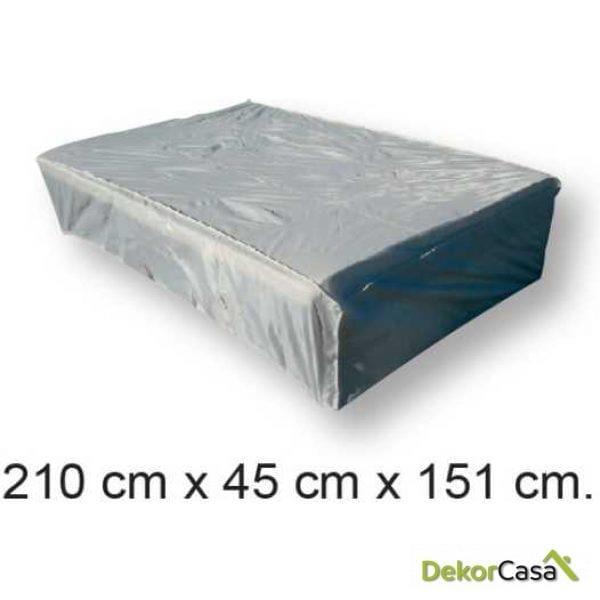 Funda 210x45x151 cm para tumbona doble