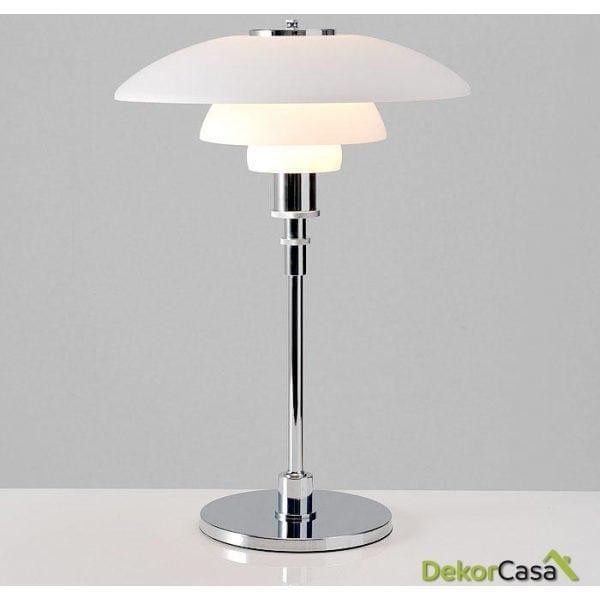 Lámpara 45x45x65 Metal/cristal Blanco