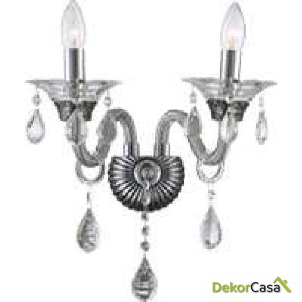 Lámpara aplique de pared clásico lágrimas cristal