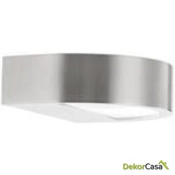 Lámpara aplique de pared media luna aluminio