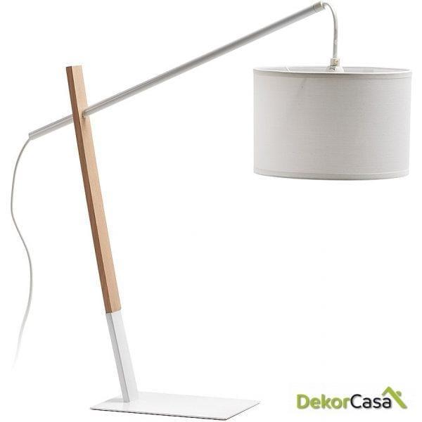 LAMPARA DE MESA IZAR Pant.blanco Puro
