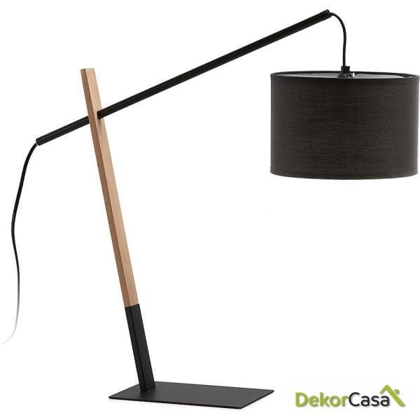 LAMPARA DE MESA IZAR Pant.negra