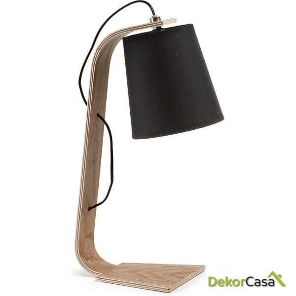 LAMPARA DE MESA PERCY Pant.negra