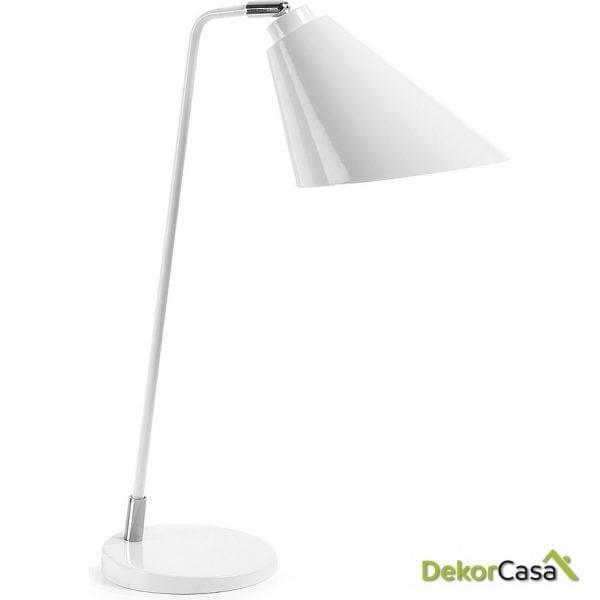 LAMPARA DE MESA PRITI Metalica Blanco Puro