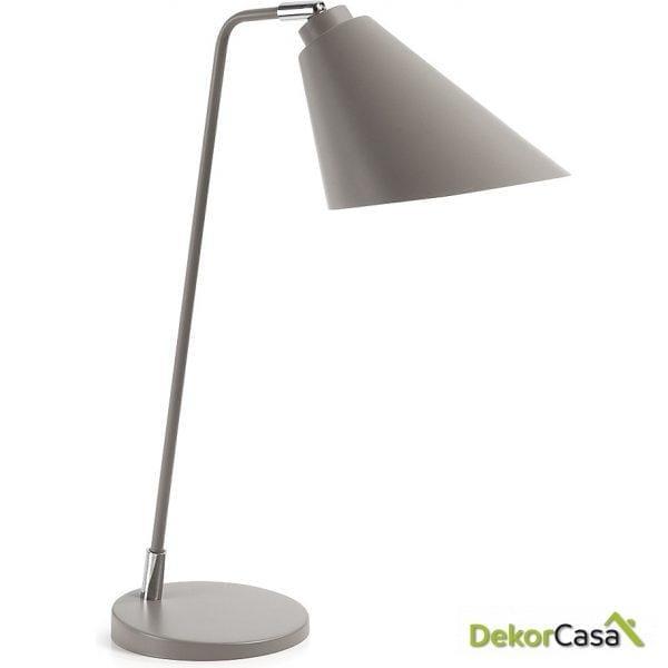 LAMPARA DE MESA PRITI Metalica Gris