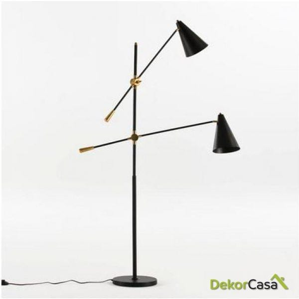 Lámpara de Pie 2 bras con pantalla 100x170cm
