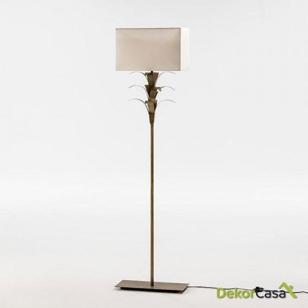 LAMPARA DE PIE CON PANTALLA 47X30X151 METAL BLANCO