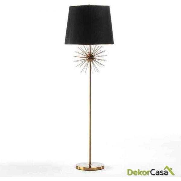LAMPARA DE PIE CON PANTALLA 50X174 METAL DORADO