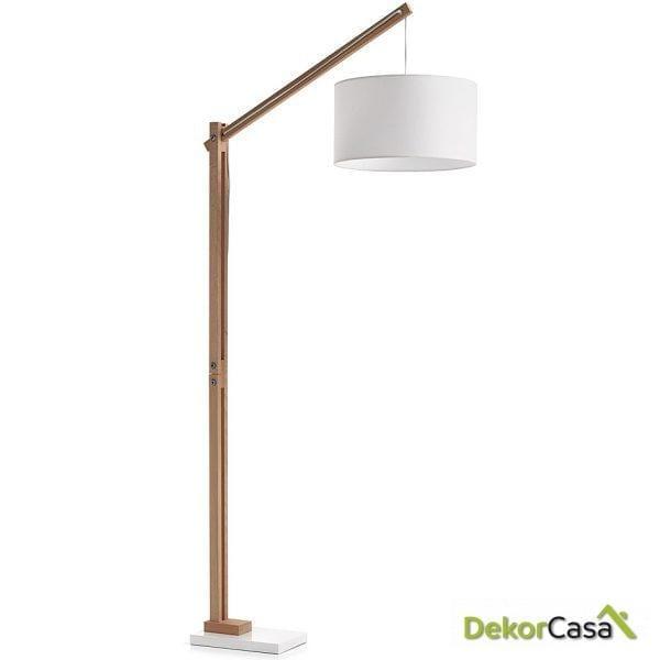 LAMPARA DE PIE IZAR Pant. blanco Puro