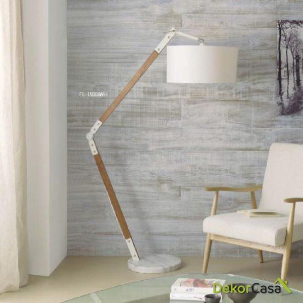 Lámpara de pie FL-15004WH 50 x 110 x 185 cm