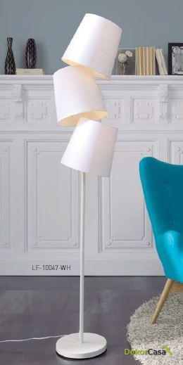 Lámpara de pie LF-10047WH 29,5 x 29,5 x 175 cm