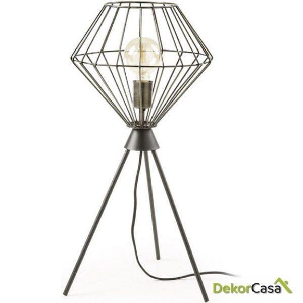 Lámpara de sobremesa Canady 30 x 30 x 65 cm