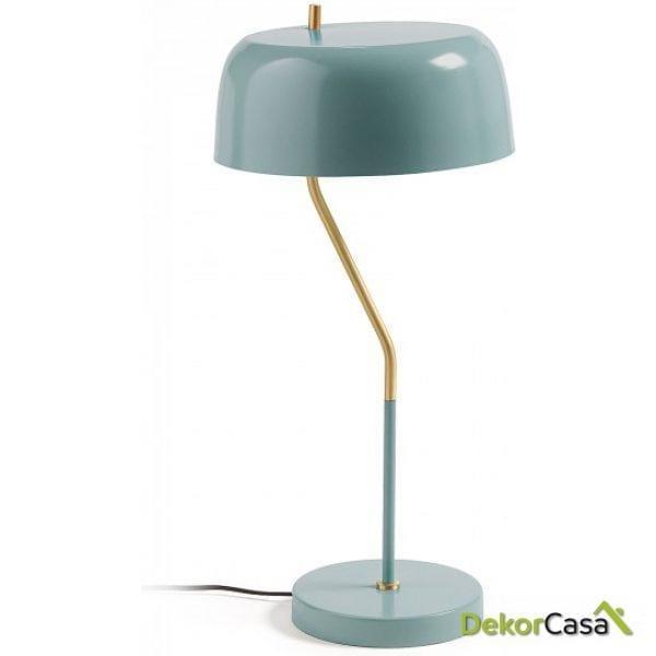 Lámpara de sobremesa metal azul claro