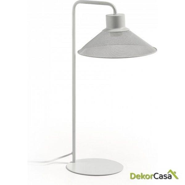 Lámpara de sobremesa metal blanco