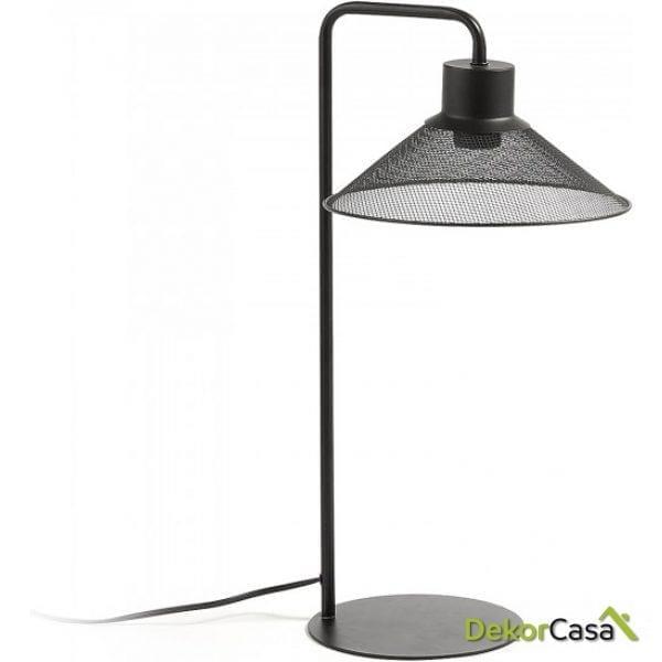 Lámpara de sobremesa metal negro