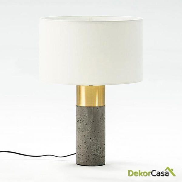 LAMPARA DE SOBREMESA SIN PANTALLA 16X50 CEMENTO/METAL BRONCE BLANCO