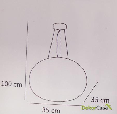 Lámpara de techo colgante donut cristal