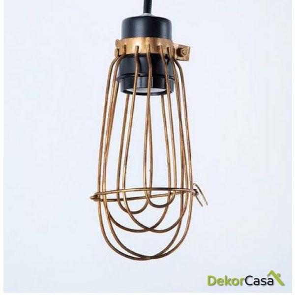 Lámpara de Techo colgante golden 10x25cm