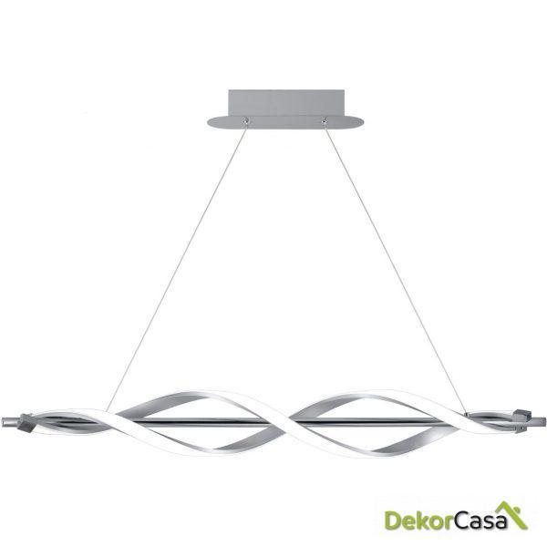 Lámpara de techo colgante led cromo 91 x 20-120 x 12 cm
