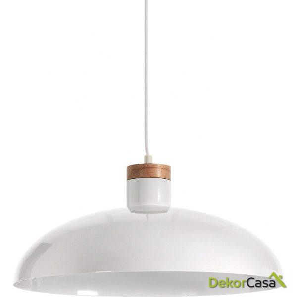 LAMPARA DE TECHO MARGOT Metalica BLANCA