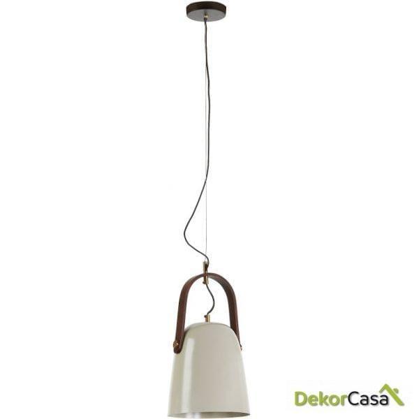 Lámpara de techo metal gris beige