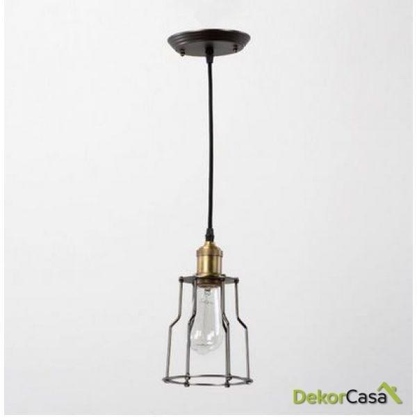 Lámpara de Techo metal kasas 15x25cm