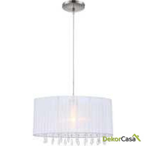 Lámpara de techo pantalla colgante cristales 57 x 28 x 23-150 cm