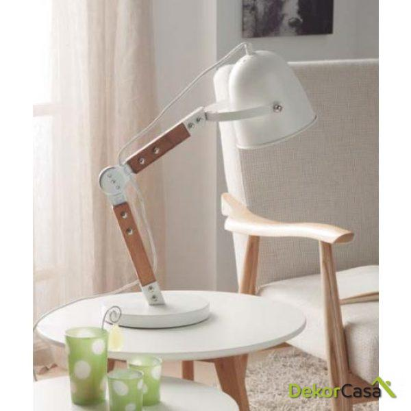Lámpara flexo TL-15004WH 20 x 40 x 58 cm