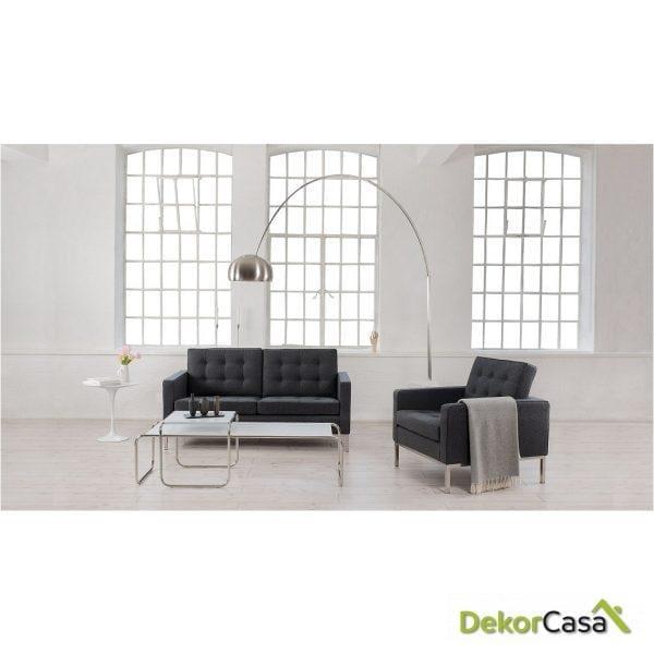 lampara new arc big pie salon base de marmol blanco