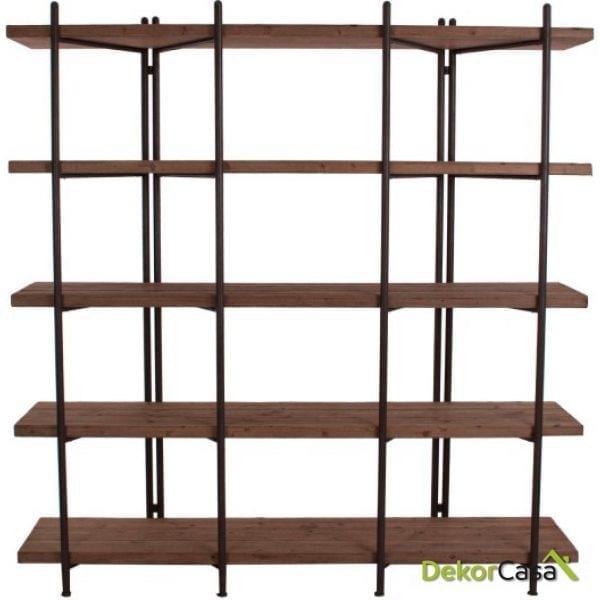 libreria albit natural madera abeto 183x46x190 cm