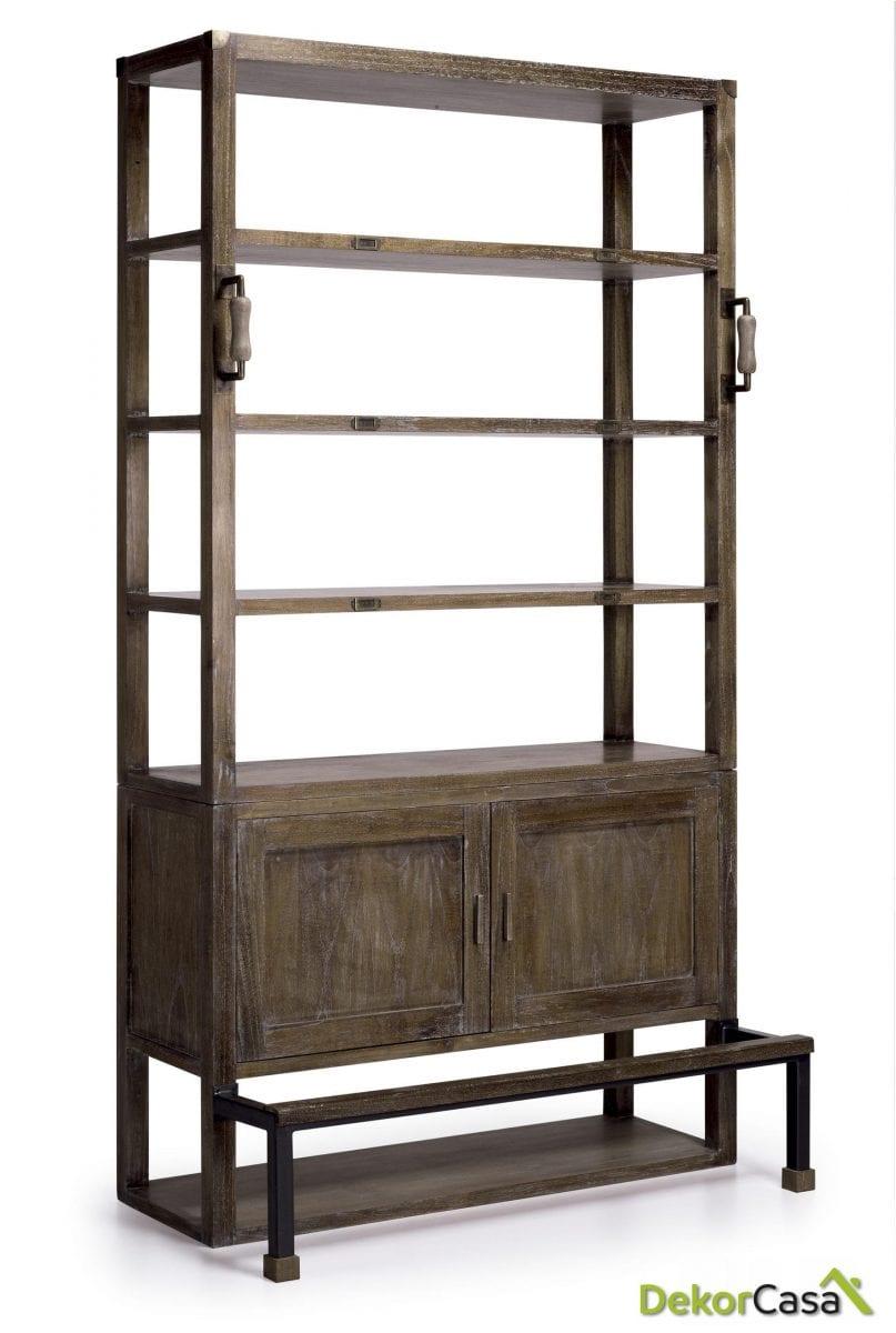 Libreria Industrial Concept 120 x 40/63 x 220 cm