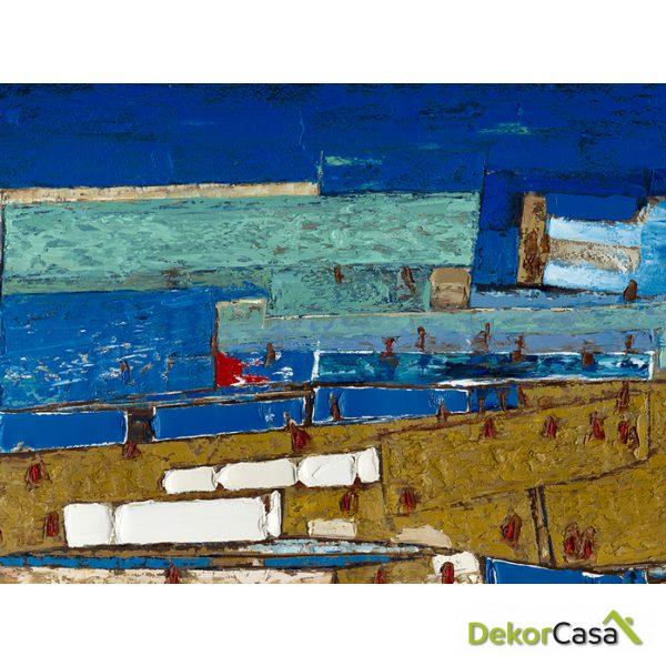 Lienzo Azul Abstracto