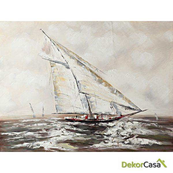 Lienzo Barco de Vela Blanco