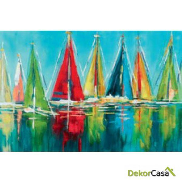 Lienzo Barcos de Vela