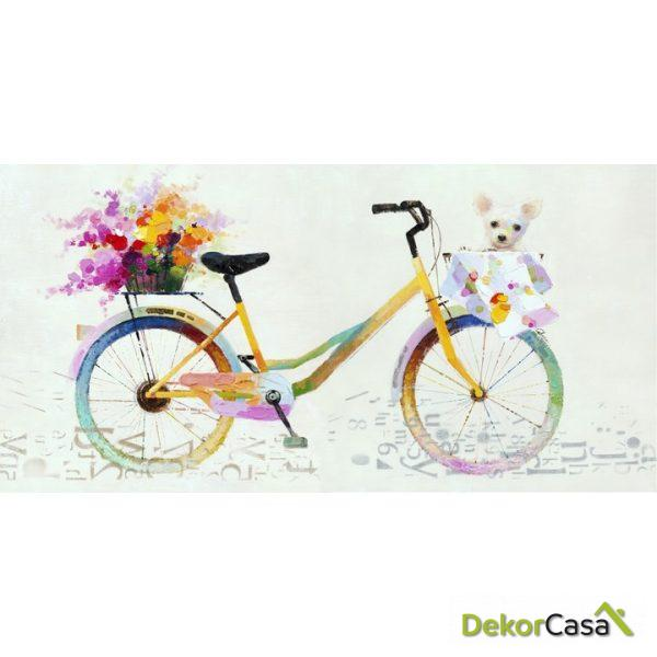 Lienzo Bicicleta Colorida