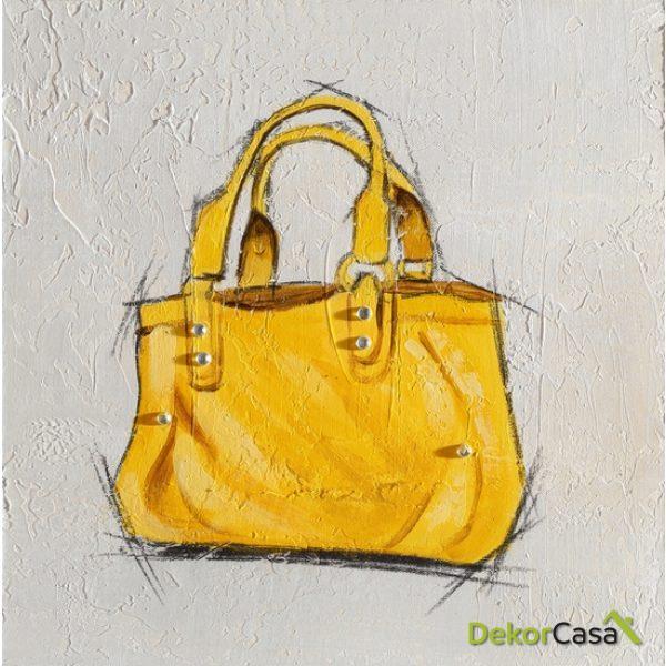 Lienzo Bolso Amarillo