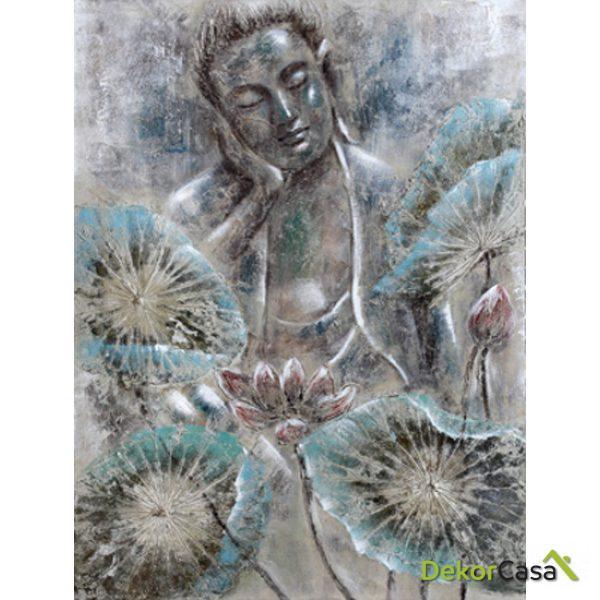 Lienzo Budha Flores
