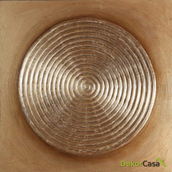 Lienzo Circunferencias Marrones