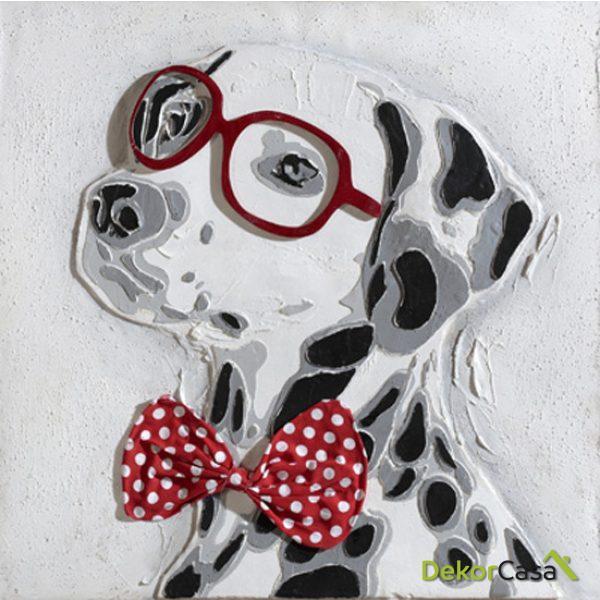 Lienzo Dalmata con Gafas