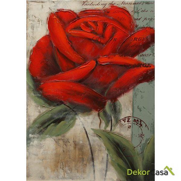 Lienzo Flor Roja