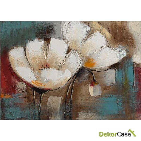 Lienzo Flores Blancas 1