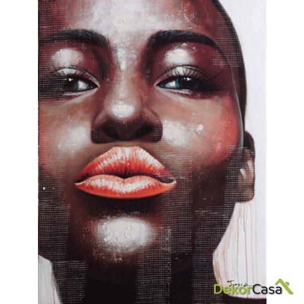 Lienzo Labios de Mujer