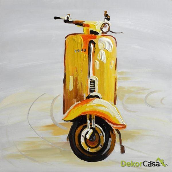 Lienzo Yellow Motorcycle