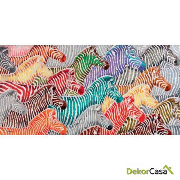 Lienzo Zebras de Colores