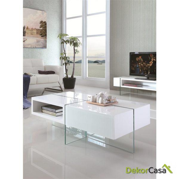 Mesa 1007 lacada blanca 120 x 60 x 40 cm